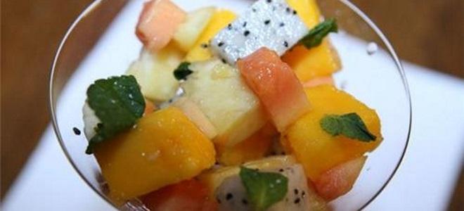 Рецепт салата с папайей