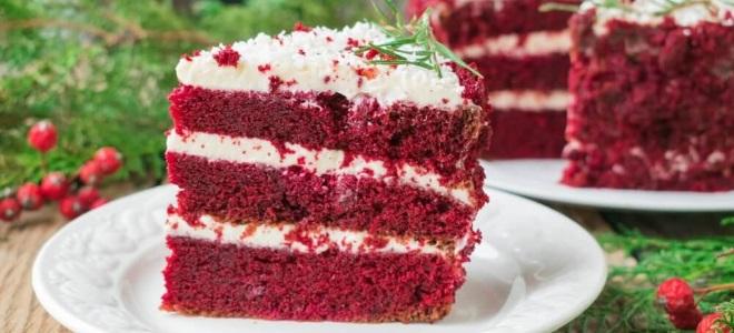 рецепт торт красный бархат с творожным кремом