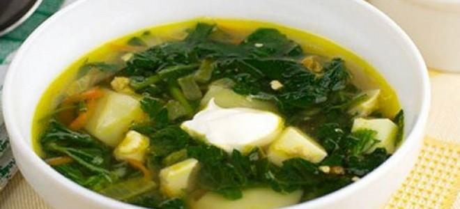 рецепт зеленого борща без мяса