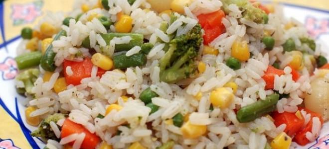Рис с овощами в микроволновке – рецепт