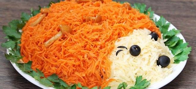 салат простой из корейской моркови