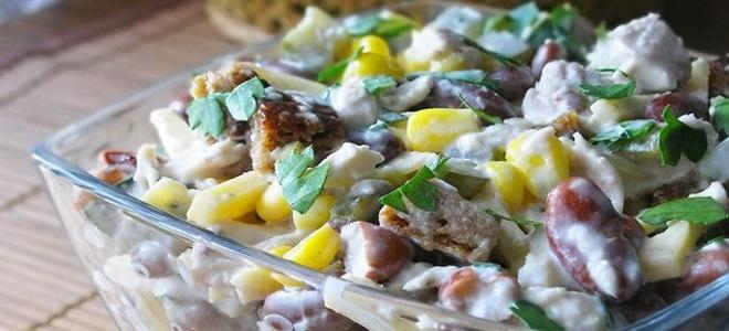 салат из фасоли кукурузы колбасы
