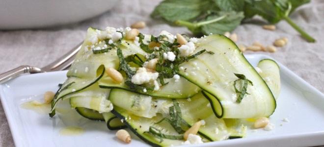 Рецепты салата из кабачка с