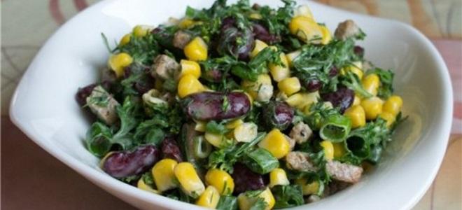 Салат из консервированной фасоли легкий