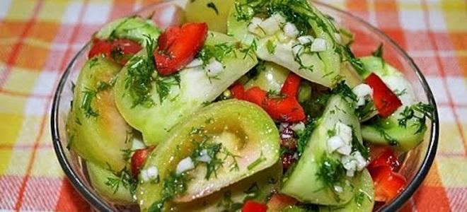 Рецепты острого салата из зеленых помидор на зиму