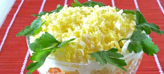 Салат мимоза с маслом фото
