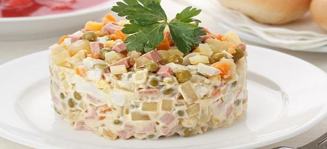 Салат оливье с колбасой рецепт с фото пошагово