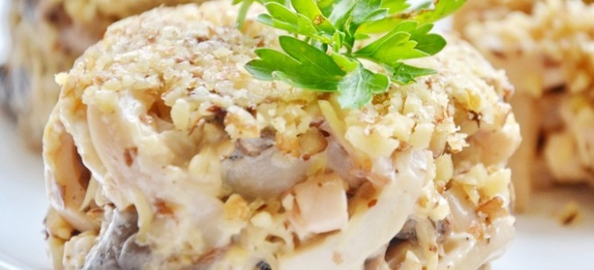 Салат из кальмаров рецепт очень вкусный с сыром