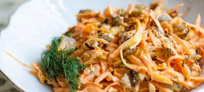 салат с печенью говяжьей и морковью