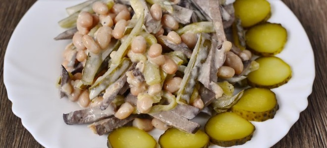 Салат из фасоли и печени рецепты с