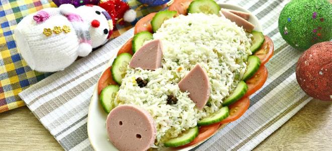 салат свинка на новый год 2019