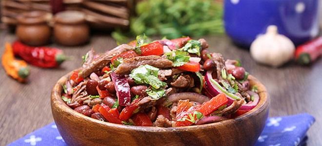 салат тбилиси с красной фасолью