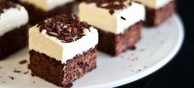 шоколадно банановый брауни чизкейк