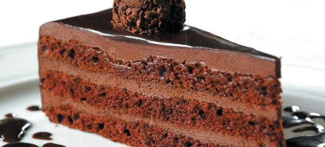 Шоколадный торт с пропиткой