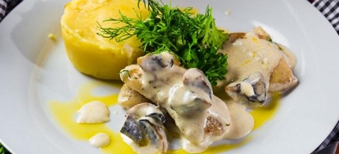 сливочно грибной соус для рыбы