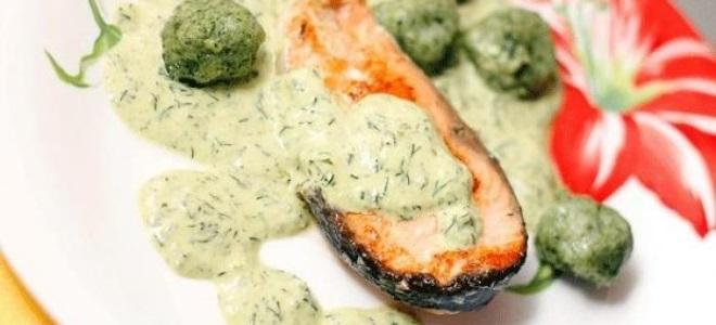 сливочно укропный соус для рыбы