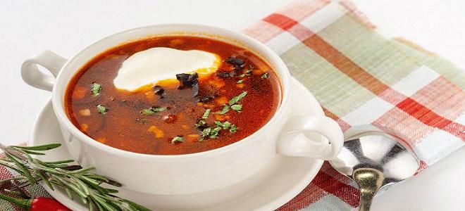 Солянка с колбасой - рецепт