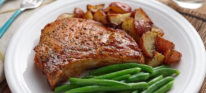 Стейк из свинины на сковороде