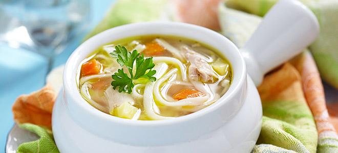Суп-лапша на курином бульоне