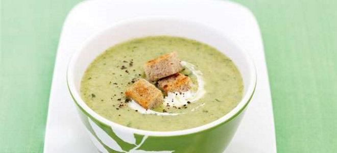 Суп-пюре из брокколи со сливками - рецепт
