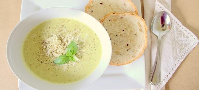 Рецепт супа с кабачком и плавленным сыром