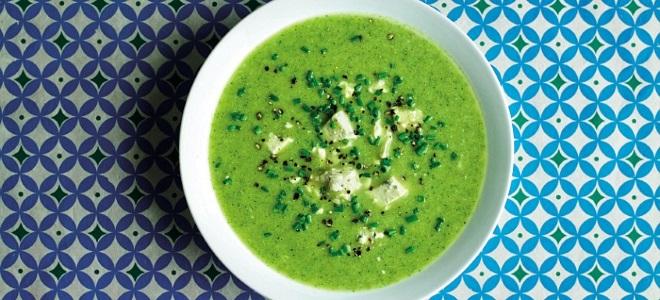 Суп-пюре из шпината и брокколи - рецепт