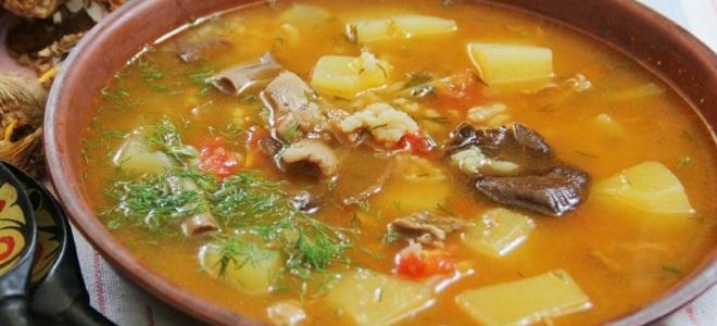 суп грибной с тушенкой