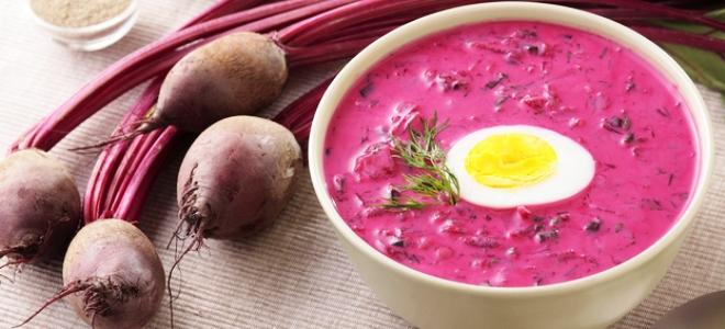 суп холодник со свеклой рецепт