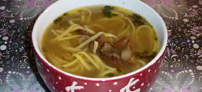 Суп из свежих грибов с вермишелью рецепт пошагово