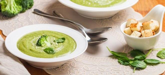 суп из брокколи и шпината