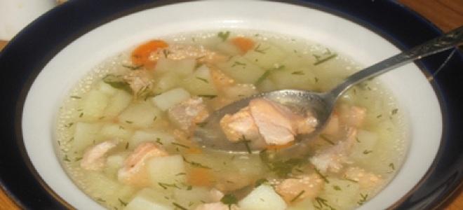 суп из форели с картофелем