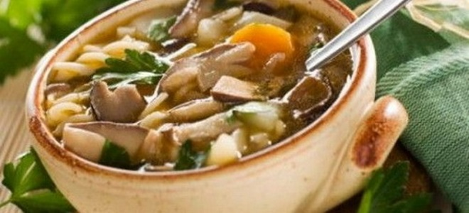 суп из грибов зонтиков рецепт