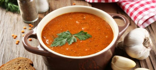 суп из красной чечевицы рецепт