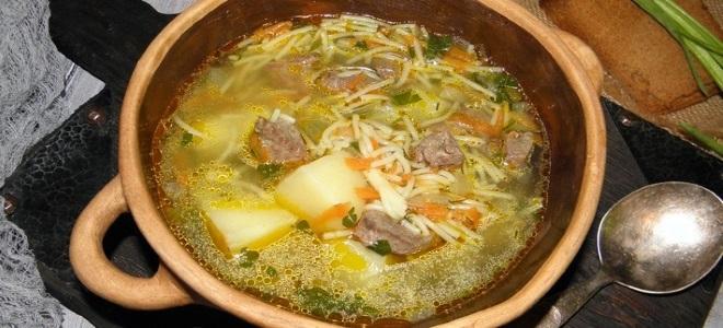 суп из печени говяжьей