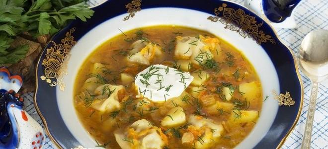 суп из пельменей с картошкой рецепт