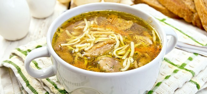 суп из свежих белых грибов