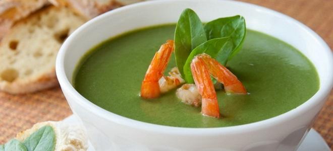 суп из сыра с плесенью и шпината