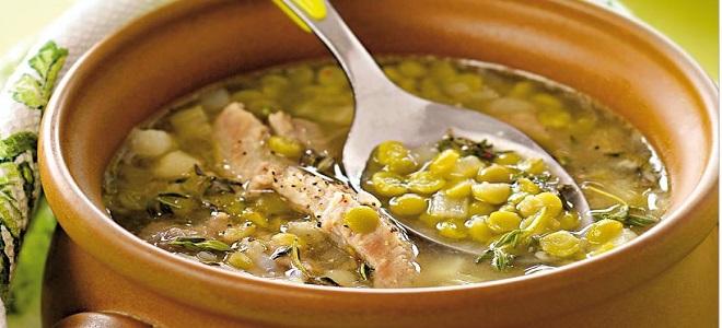 Суп из зеленого гороха сухого