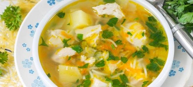 суп куриный с обжаренной вермишелью