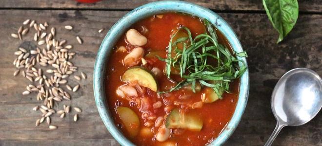 Суп овощной с кабачками - рецепт