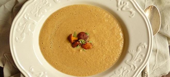 суп пюре из лисичек рецепт