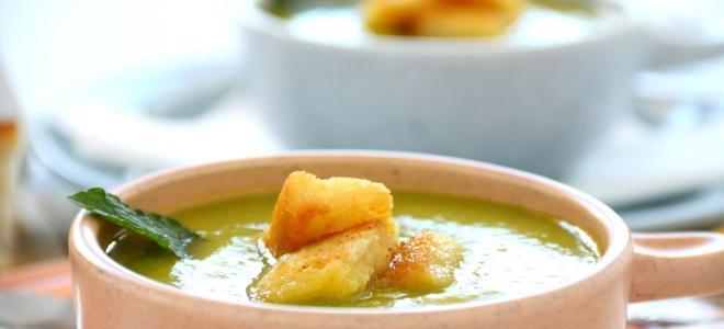 суп пюре овощной с курицей