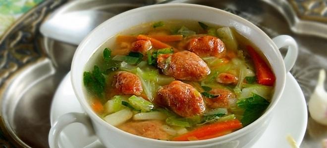 Суп с клецками без мяса
