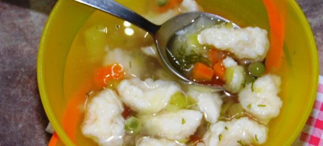 Суп с клецками для детей