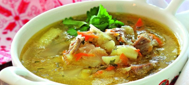 суп с пшеном и квашеной капустой рецепт