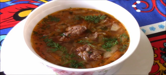 суп с тушенкой и капустой