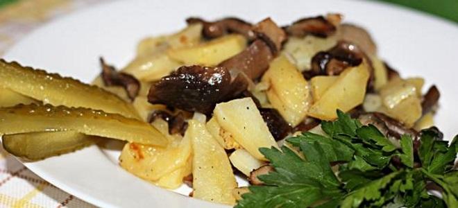 Сушеные опята с картошкой