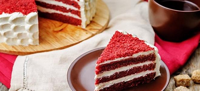 свекольный торт красный бархат