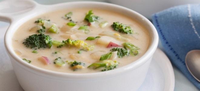 сырный суп с брокколи рецепт