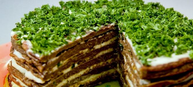 Торт из печени свиной - рецепт